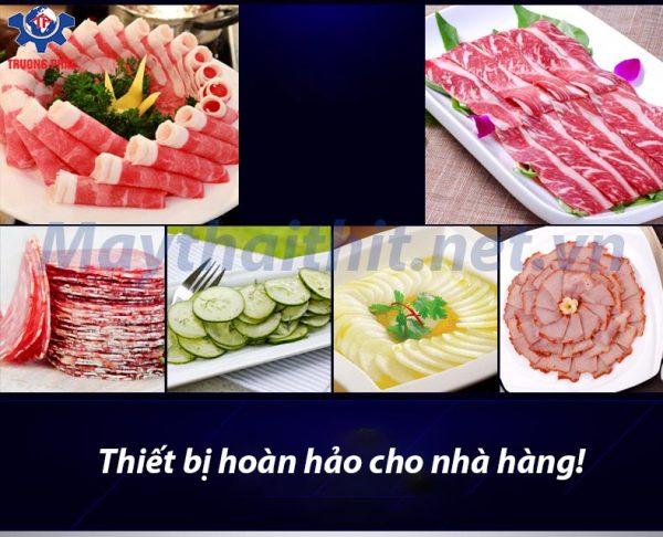 thịt thái từ máy thái thịt Trường Phát